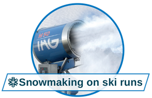 Matching snow for every use, snowmaking on ski runs