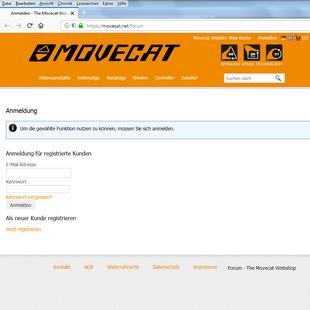 Movecat GmbH: Forum (nur für registrierte Benutzer)