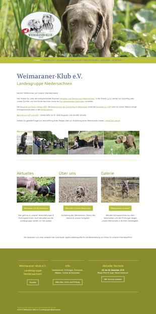 Website weimaraner-niedersachsen.de