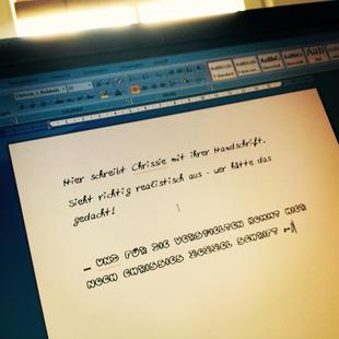 Eigene Handschrift als Font - zum Beispiel für Word
