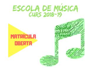 Curs 2018-19 escola de música