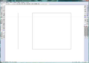 ②任意の場所でクリックすると、寸法を表示する場所を選択するための線が出てきた(始点)。