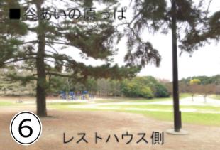 緑地公園からBBQエリアへのアクセス⑥