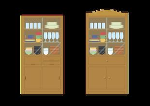 牛久市の不用な食器棚の家具処分