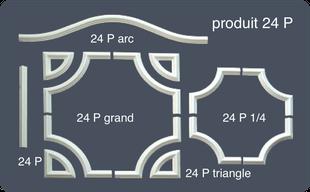 Moulures en hd polystyrène décoratives