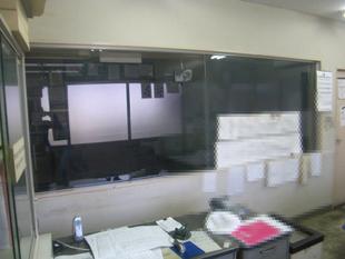 管理室破損部改修工事:工事後
