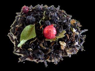 thé noir bio artisanal aux fruits rouges
