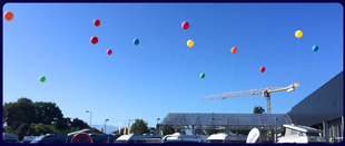 ballon à l'hélium concession automobile pau tarbes Toulouse auch dax 64 65 32 31 40