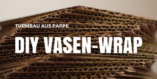 Vase aus Altpapier