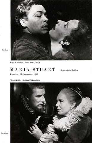 Schiller-Theater, Heft 43, 1954-1955 - Maria Stuart - Martin Held/Elisabeth Flickenschildt und Peter Mosbacher/Joana Maria Gorvin