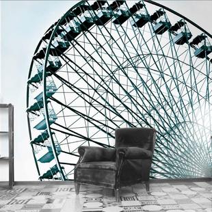 The wheel, Riesenrad Tapete DesignTapete