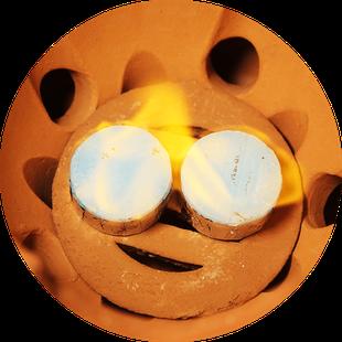 小田式ミニ蒸しかまど大・赤焼き 3合炊き羽釜付き・固形燃料2個