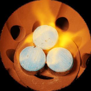小田式ミニ蒸しかまど大・赤焼き 5合炊き羽釜付き・固形燃料3個