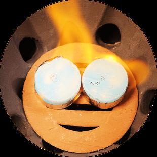 小田式ミニ蒸しかまど大・いぶし 3合炊き羽釜付き・固形燃料2個