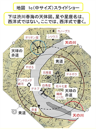 地図「天体図」(渋川春海の天体図)