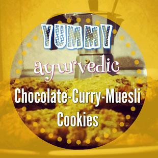Yummy ayurvedic Chocolate Curry Muesli Cookies recipe