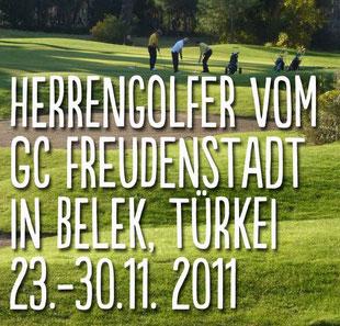 Golfwoche im Calista-Golf-Resort, Belek. 2011. Golf-Club Freudenstadt. Foto Rainer Sturm stormpic.de