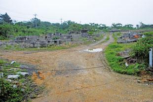 新火葬場の建設予定地に選定された「バラビ道」(25日午後)