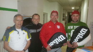 Von Links: F. Schnobl, L. Walker, T. Schnobl, D. Franke