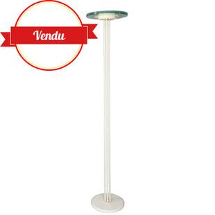 lampadaire italien design,Relco Milano,floor lamp,lampadaire ufo,lampadaire blanc et laiton,lampadaire soucoupe,dique en verre,lampadaire design et vintage,majdeltier,design,variateur,pamono