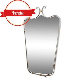 miroir biseauté,miroir chic,miroir élégant,miroir poétique,miroir romantique,bohéme chic,métal et laiton,majdeltier