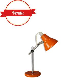 mini lampe,lampe miniature,petite lampe de bureau,vintage,mini lampe,lampe 1970,lampe orange métal