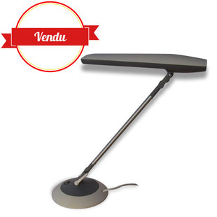 lampe,lampe de bureau,aluminor,futuriste,vintage,jolie,grande