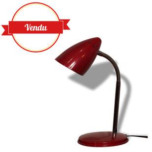 lampe phare,lampe de bureau,bureau,cerise,rouge,vintage