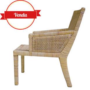 fauteuil rotin,fauteuil rotin ancien,fauteuil rotin desihn,designer,france,paris,majdeltier,jean michel frank,pierre chanaux,vintage,rattan, armchair