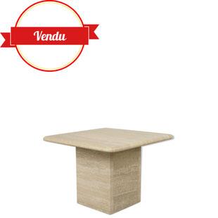 petite table basse,table basse en travertin, table basse en pierre,table basse vintage,table basse design,bout de canapé,majdeltier