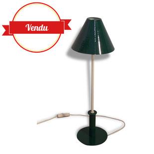 Lampe metal, tole, design, bureau, vert, vintage