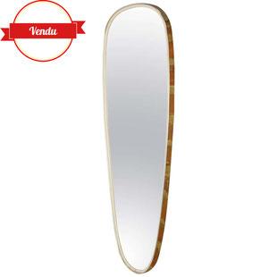 miroir forme libre,miroir retroviseur,miroir ancien,miroir ovoide,miroir goutte,miroir laiton,miroir design,miroir retro,majdeltier,tourcoing,lille,bondues,années 50,années 60,1950,1960,élégant
