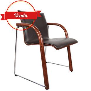 fauteuil thonet,design thonet,thonet vintage,fauteuil thonet,majdeltier,thonet vintage,fauteuil simili cuir marron,chrome,bois courbé,must have
