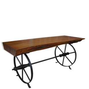 table basse ancienne,table basse sur roues,table basse rustique,table basse industrielle,vintage rétro,roue,métal, tree trunk,france,french,coffe table