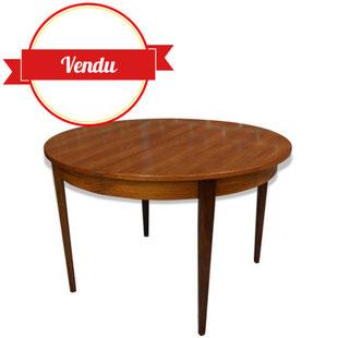 Table scandinave,table en teck,table de salle a manger,table de repas,1960,années,60,50,70,excellent état,teck,vintage,rallonge