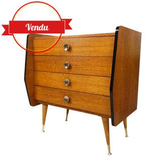 commode vintage,petite commode,grande commode,vintage,design,années 50,commode a ailerons,commode en chêne,commode en bois,majdeltier