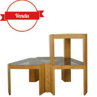 table modulable,étagére modulable ,design italien,design pratique,vintage,empilable,majdeltier, lille,table graphique,motif géometrique
