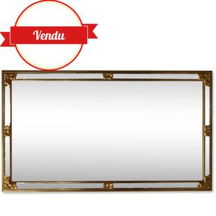 trés grand miroir,grand miroir deknudt,miroir a pare-closes,miuroir de sol,miroir enfilade,miroir biseauté,miroir or,majdeltier