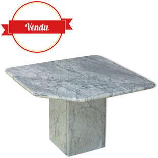 table basse marbre,marbre,marbre blanc, 1970,chic, naturel,blanc veiné de gris