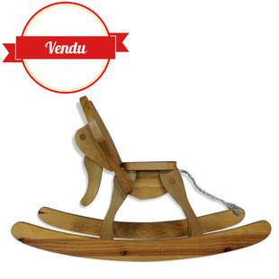 cheval a bascule vintage, elephant a bascule,éléphant à bascule, fauteuil enfant, retro, made in france, bois,chambre, jouet