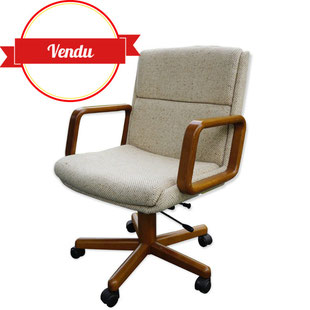 fauteuil de bureau,fauteuil de bureau haut de gamme,fauteuil de bureau bois,pivotant réglable,accoudoirs,design,fauteuil design de bureau