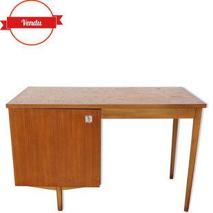 bureau vintage en teck combineurop,bureau vintage,classeur,combineurop,desk,vintage,rétro,design,majdeltier
