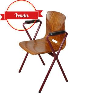 fauteuil ciseaux pagholz pagwood,thur op seat,vintage années 60,majdeltier