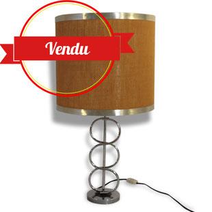Lampe 1970 chrome abat jour vintage