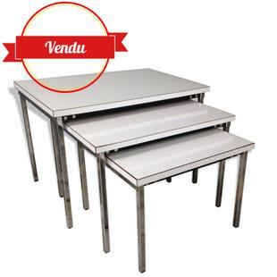 design pierre guariche,pierre guariche vintage,table basse pierre guariche,tables gigognes pierre guariche pour meurop,meurop,1960,1950