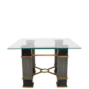 table basse hollywood regency,hollywood regency,1970,années,design,chic,élégante,riche,dorure,marbre noir,coffee table,marble,bois,vintage,rare,originale