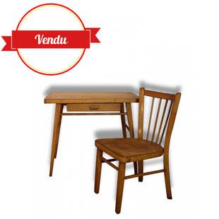 bureau,écolier,école,enfant,vintage,baumann,chaise,tiroir