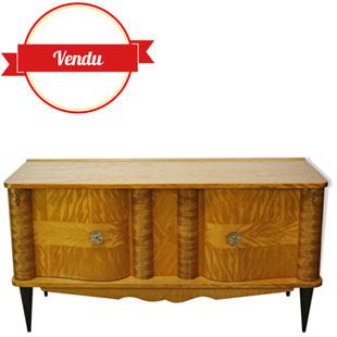 enfilade des années 50, meuble bas des année 50,petite enfilade,petit meuble,petit buffet,bois clair,france,majdeltier,bois blond,movingui,romantique