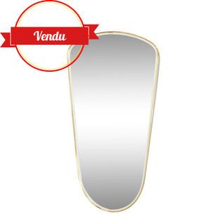 miroir forme libre,miroir retroviseur,miroir vintage,miroir goutte,miroir rétro,vintage,miroir laiton