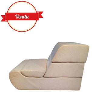 Chauffeuse, lit, modulable, design, 1970, vintage,1960,1950,depliable